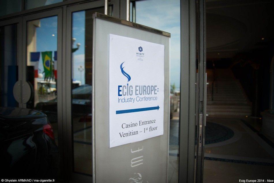 Après Londres fin 2013, l'Ecig Europe était cette fois organisé à Nice (Hyatt regency)