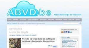 """""""Pseudo-science dans les politiques relatives à la cigarette électronique"""" à lire sur le site de l'ABVD"""