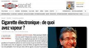 """""""Cigarette électronique : de quoi avez vapeur ?"""" sur Liberation.fr"""