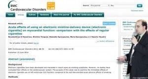 Une nouvelle étude s'intéresse aux effets cardiovasculaires de l'e-cigarette