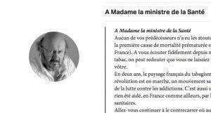 """""""Lettre à Marisol Touraine: contre le tabac vous avez une chance historique. Allez-vous la gâcher?"""" sur Slate.fr"""