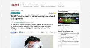 """""""Appliquons le principe de précaution à la e-cigarette"""" sur L'Express."""
