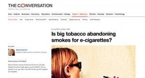 Le sujet Big Tobacco et cigarette électronique est abordé sur le site The Conversation