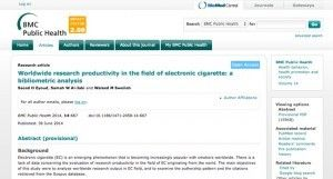 Les documents scientifiques sur l'e-cigarette sont de plus en plus nombreux