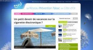 Un petit devoir de vacances sur la cigarette électronique ? sur le site Réseau Prévention Tabac de Côte d'Or