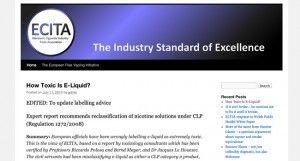 Quel est le vrai danger d'un flacon de e-liquide ? Réponse avec l'association ECITA.