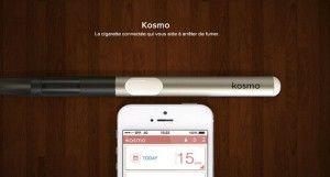 Kosmo, le projet technologique d'une e-cigarette connectée et focalisée sur la consommation de nicotine.