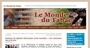 """""""Boutiques de cigarette électronique contre buralistes : c'est maintenant que ça se joue"""" sur Le monde du tabac"""