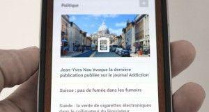 La page d'accueil de Ma-cigarette.fr sur un smart phone est désormais plus lisible.