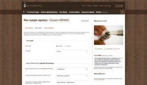 Le compte vapoteur permet de s'identifier sur le site afin d'éditer ses avis e-liquides et de renseigner notamment son (ancien) profil tabagique.