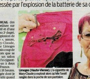 La photo diffusée dans Le Parisien suggère que la dame se serait assise sur son e-cigarette.