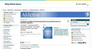 Critique du rapport de l'OMS au sujet de l'e-cigarette, sur le journal Addiction.