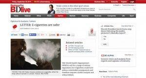 Un vendeur d'e-cigarettes en Afrique du sud publie un communiqué pour défendre son produit.