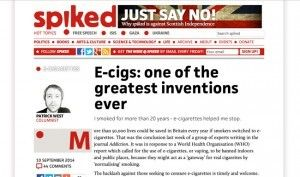 """""""E-cigs: one of the greatest inventions ever"""" à lire sur spiked-online.com"""