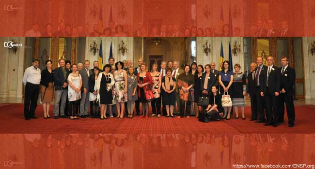 L'ENSP ici au Parlement de la Moldavie (source Facebook)