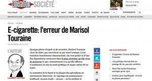 """""""L'e-cigarette : l'erreur de Marisol Touraine"""" à lire sur le journal Libéartion."""