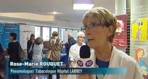 Le Dr Rose Marie Rouquet ici interviewé pour la chaîne TLT (TéléToulouse).
