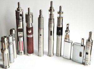 De gauche à droite : iTaste Mini 134, iJust, Zmax, Seven 30, Silenus, Provari P3,  SVD, Bec Pro, iStick, eGrip, Cool Fire