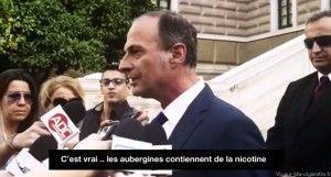 """""""Les aubergines contiennent de la nicotine"""", une vidéo publicitaire réalisée en Grèce."""