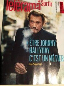 Johnny Hallyday vapote en couverture de Télérama.