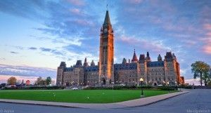 Le Parlement canadien à Ottawa (Ontario).