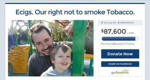La campagne de Vince pour récolter des fonds afin de mener à bien son combat juridique.