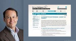 Dr Luc Réfabert, médecin tabacologue (Paris).