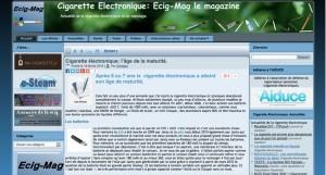 Le site http://ecig-mag.com/ est de nouveau en activité.