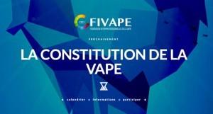 """""""Avec la Constitution de la Vape, la Fivape interpelle dès aujourd'hui toutes les personnes et institutions qui prétendent lutter contre le tabagisme en France, pour rédiger l'acte fondateur des droits et devoirs du vapotage et de ses usages."""""""