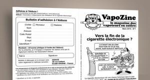"""Le collectif des """"Vapoeurs en colère"""" propose un document imprimé pour informer les consommateurs en dehors du réseau internet."""