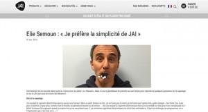 Elie Semoun : « Je préfère la simplicité de JAI » à lire sur jaivaping.com