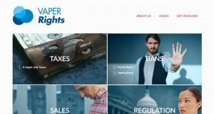 Vaper Rights : un site militant édité par le géant du tabac Altria (Marlboro).