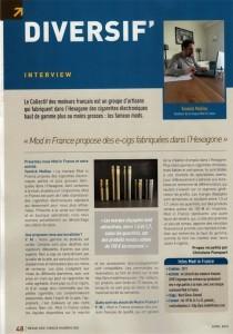 Yannick Maillou, de la société Mod in France, est interviewé dans le numéro 629 de La Revue des Tabac (avril 2015).