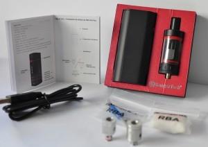 Le kit comprend une Kbox Mini et un clearomiseur Mini Subtank V2