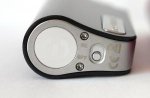 Un bouton on/off permet de verrouiller l'alimentation de l'appareil