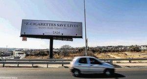 Panneau publicitaire dans la région de Johannesburg en Afrique du Sud.