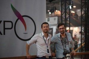 Ghyslain Armand et Sébastien Duijndam au salon Vapexpo 2015 à Paris.