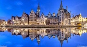 Fotolia-Belgique-Gand-Ghent-skyline-reflecting-in-water-2