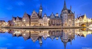 Fotolia-Belgique-Gand-Ghent-skyline-reflecting-in-water-2