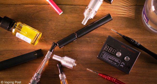 Différents matériel de cigarettes électroniques