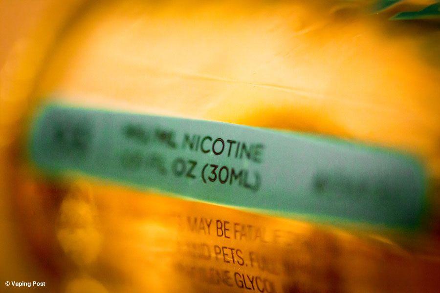 Nicotine dans la cigarette électronique