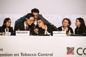 Le Professeur Chang Jin Moon, de la République de Corée, présidait la COP6 à Moscou, en ocobre 2014.