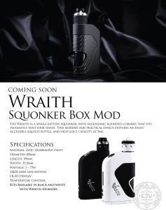 Wraith Squonk Box Mod Council of Vapor 1