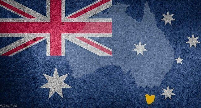 Drapeau australien avec carte de l'Australie en fond