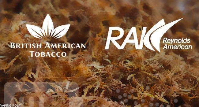 Logo de BAT et Reynolds sur fond tabac