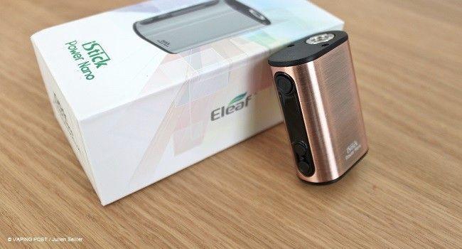 Box iStick Power Nano de Eleaf et sa boîte