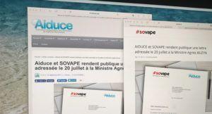 Aiduce et Sovape rendent publique leur lettre du 20 juillet à la ministre de la Santé