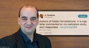 Farsalinos répond à la réponse à son étude sur le formaldéhyde