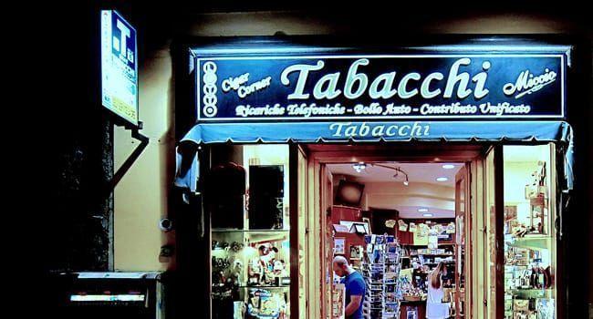 Bureau de tabac italien