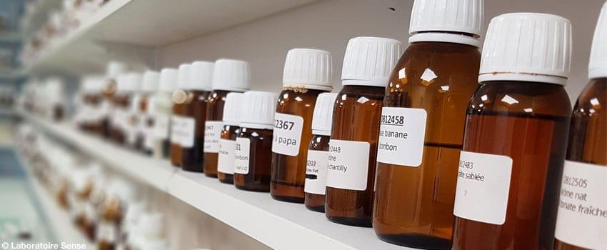 Flacons de concentrés d'arômes pour e-liquide